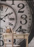 Hit The Road Clockwork Metallic Wallpaper Wall Mural HTD17304 By Galerie